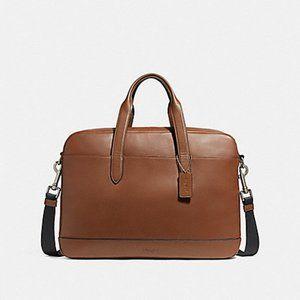 Coach Hamilton Leather Briefcase Messenger Tote